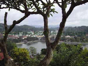 View of Kandy Lake and Town