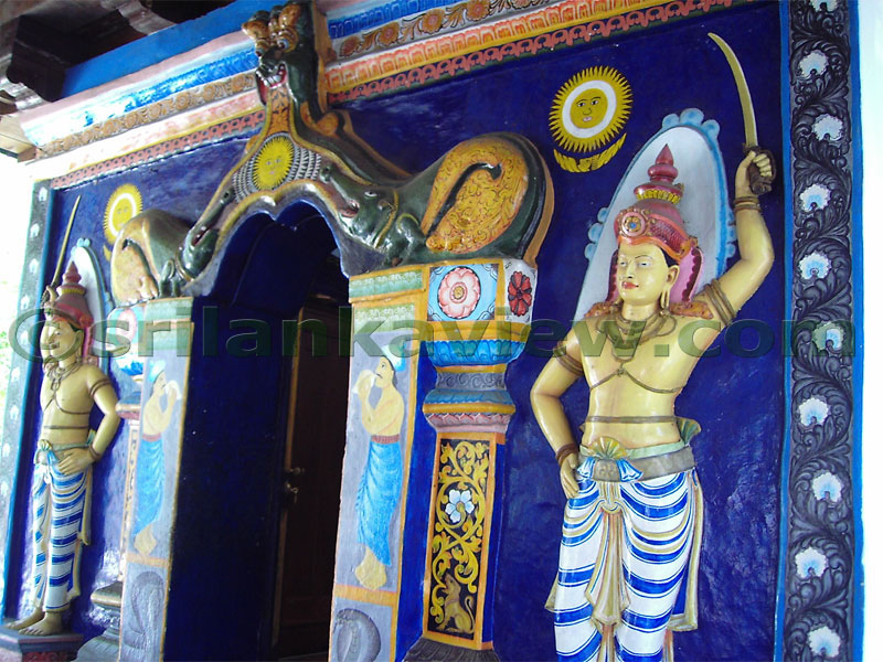 The shrine room, Vishnu Temple,Kandy