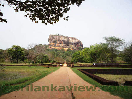 Sigiriya Rock and Water Garden landscape