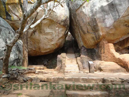Sigiriya Boulder Entrance