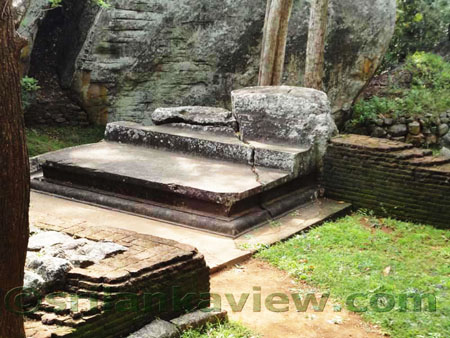 Sigiriya Audience Hall  Stone Seat