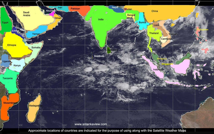 Weather Today Satellite Images for IndiaPakistanMaldivesNepal