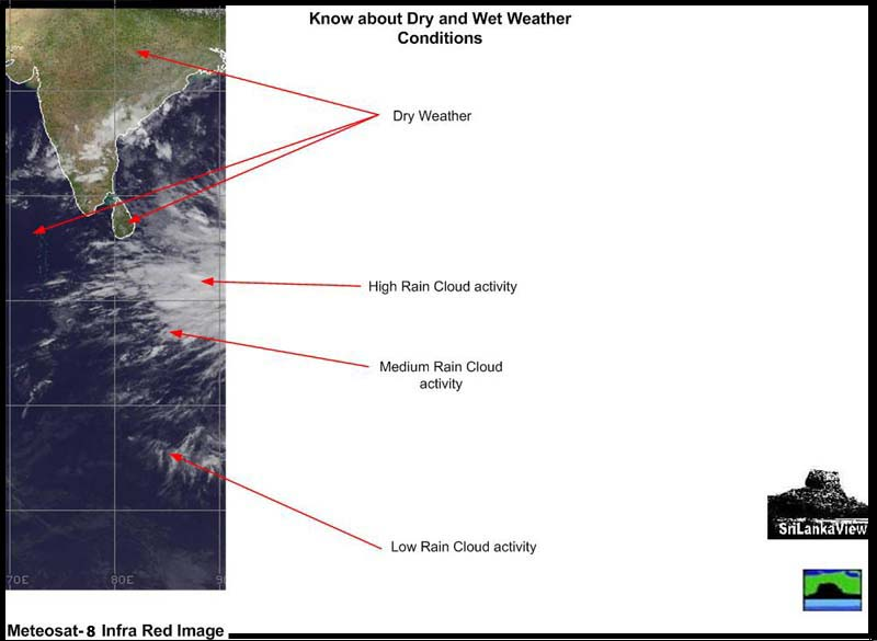 Key to Meteosat IR Weather Images
