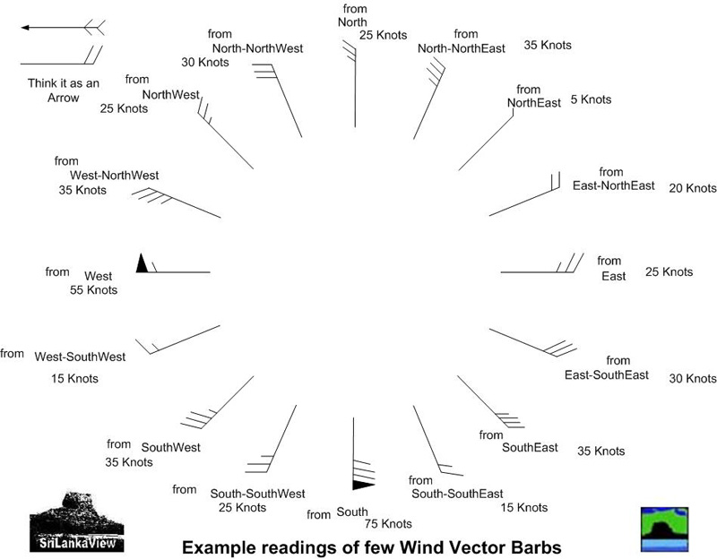 Wind Vector Barbs