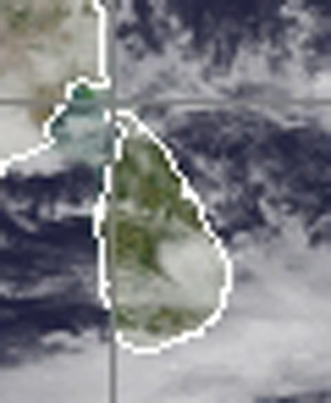 Satelite map of Sri Lanka enlarged